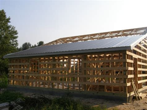 project two how to build a pole barn shed