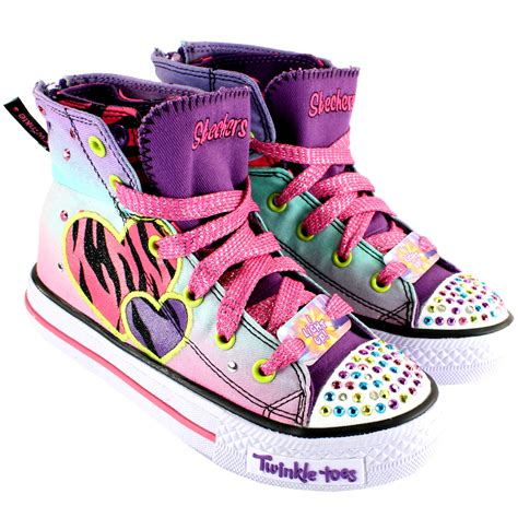 twinkle toes light up shoes girls skechers wild lights twinkle toes