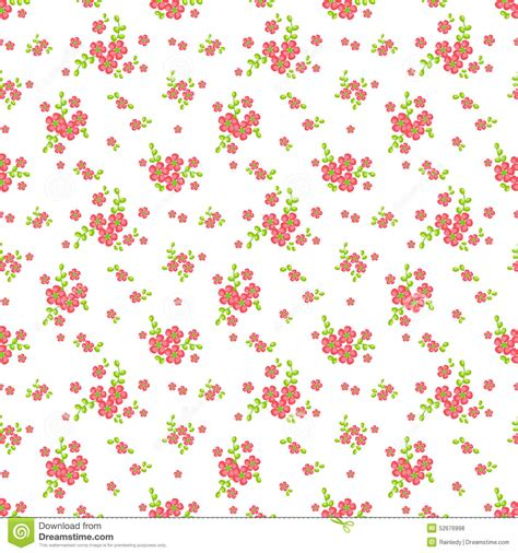 flower pattern on white background floral seamless pattern vector background stock vector