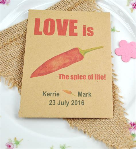 Wedding Favors Seeds by Chilli Seeds Recycled Wedding Favour Chillis Wedding