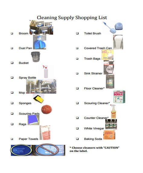 cleaning supplies checklist cleaning supplies checklist 28 images janitorial