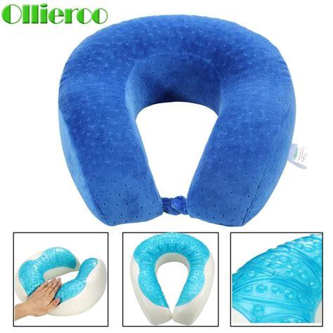 Cool Gel Neck Pillow ollieroo u shaped gel memory foam neck pillow cooling cervical travel pillows us ebay