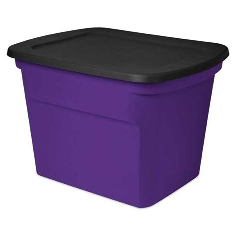 sterilite 18 gallon purple black tote purple storage - 18 Gallon Storage Containers