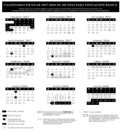 dias festivos chihuahua atenci 211 n sep publica el calendario escolar 2017 2018 el