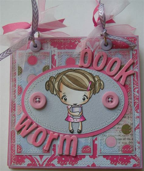 Handmade Scrapbook Albums - ooak book worm book club handmade scrapbook memory photo album