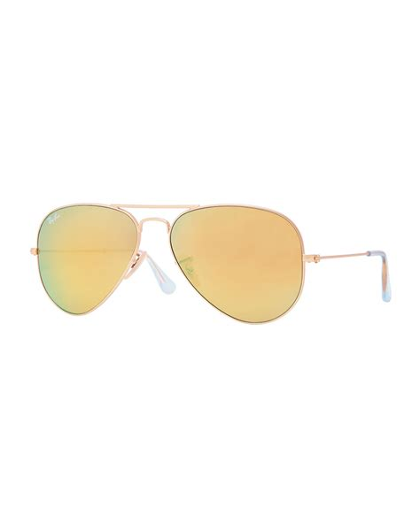 Mirrored Sunglasses ban aviator mirrored sunglasses in gold green blue