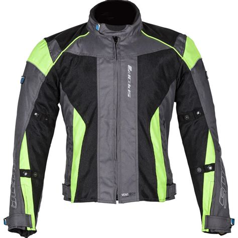 fluorescent bike jacket spada air pro 2 motorcycle jacket trousers black silver