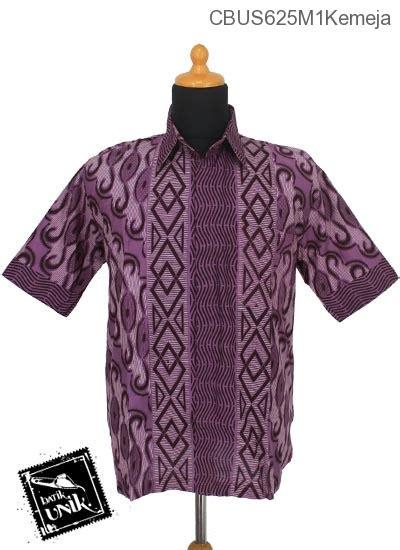 Kemeja Katun Ij 1 baju batik sarimbit kemeja katun motif baris gelombang kemeja pendek murah batikunik