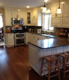 cream kitchen cabinets with glaze best colors kitchens reface kitchen cabinets