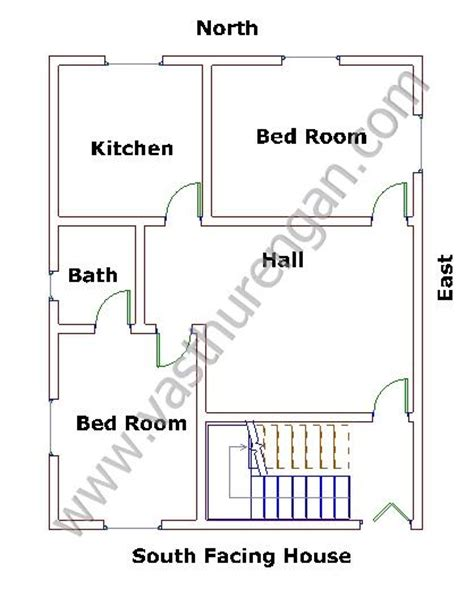 south facing house plans as per vastu south house vastu plan 6 vasthurengan com