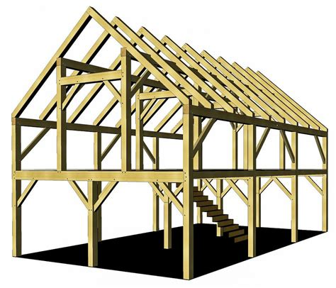heavy timber barn plan timber frame hq