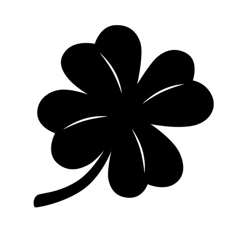 four leaf clover clip black clipart clover pencil and in color black clipart