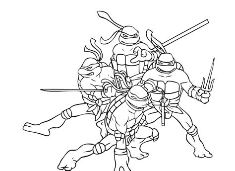 999 coloring pages ninja turtles four ninja turtle combat ready coloring page ninja