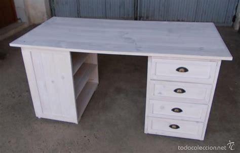 escritorio blanco segunda mano escritorio de madera blanco con 4 cajones y 3 comprar