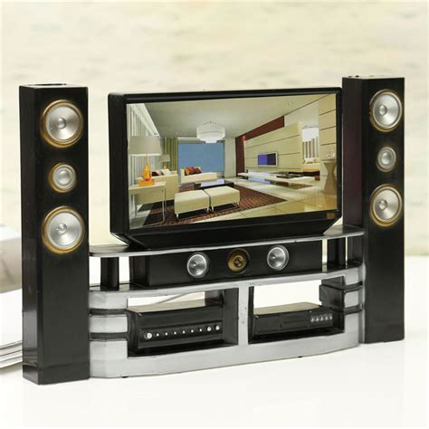 5 room dollhouse furniture hi fi tv cabinet set combo for doll house furniture