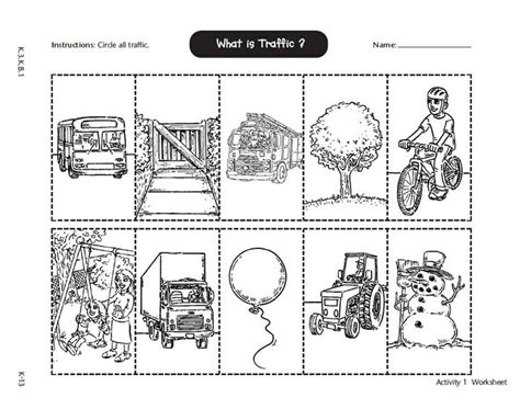 School Safety Worksheets by Health Safety Learning About Road Safety Safety