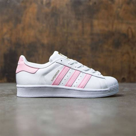 adidas big superstar foundation white clear light pink gold metallic