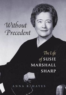 without precedent the of susie marshall sharp by