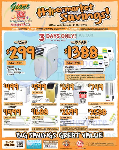 Ac Panasonic Hypermart hypermarket air conditioners fans more offers 8