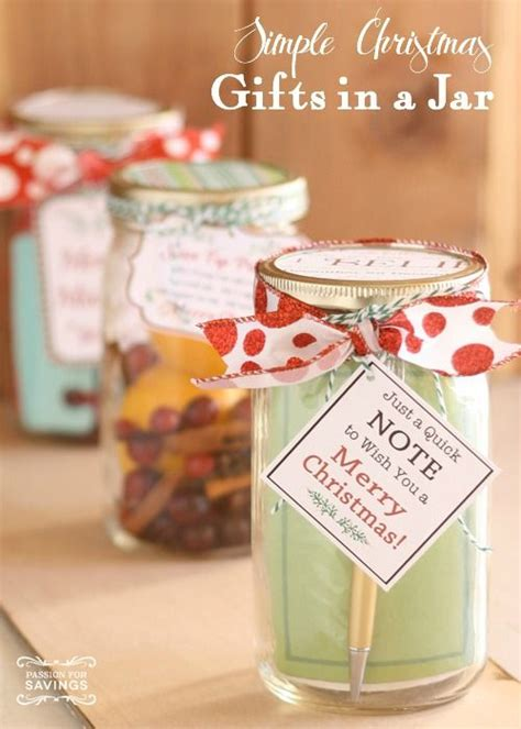 gifts in a jar simple and cheap christmas gift ideas