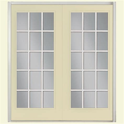 Masonite 72 In X 80 In Prehung Left Hand Inswing 15 Lite Masonite Patio Doors