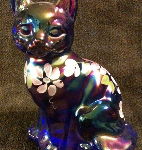carnival painting cat 17 best images about fenton glass cats on