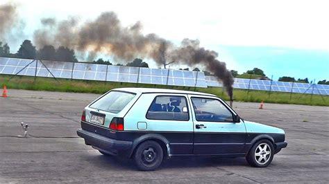 Volkswagen Golf Turbo Diesel by Vw Golf Mk2 Turbo Diesel Drag Race