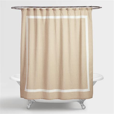 Linen Shower Curtains Amalie Linen Shower Curtain World Market