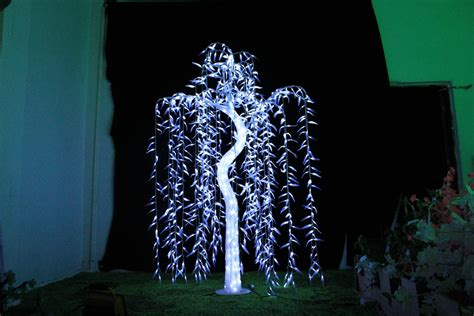 6ft white led tree free ship led willow tree light led 945pcs leds 1 8 6ft white color rainproof indoor or outdoor