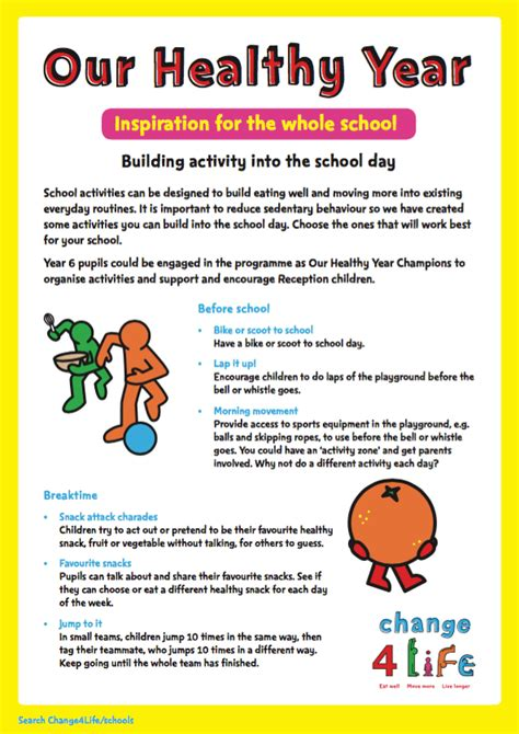 new year story for reception phe school zone our healthy year ideas for reception