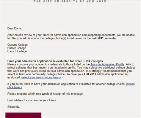 College Admission Rejection Letter Sle college rejection letter sle how to write a letter