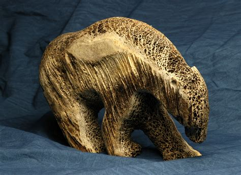 artwork at mst institute of education of inuit whale bone sculpture by