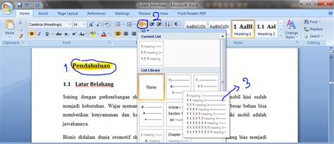 langkah langkah membuat daftar isi secara otomatis di word cara membuat daftar isi reygumay