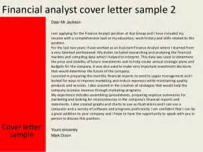 Financial Analyst Cover Letter Sle by Cover Letter For Trainee Financial Analyst Position