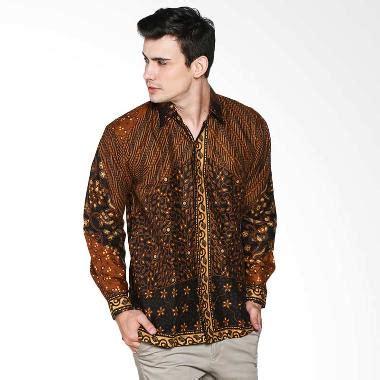Kemeja Batik Sogan Milo jual batik trusmi kemeja motif parang milo kmj mtf milo prg batik pria chocolate