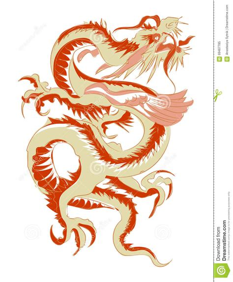 chinese dragon tattoo stock vector tribal vector illustration stock