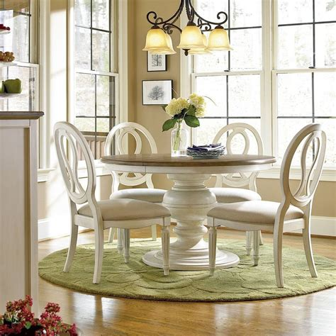 Universal Furniture Dining Room Set Universal Furniture Summer Hill 5 Pedestal Dining Set With Pierced Back Chairs Cotton