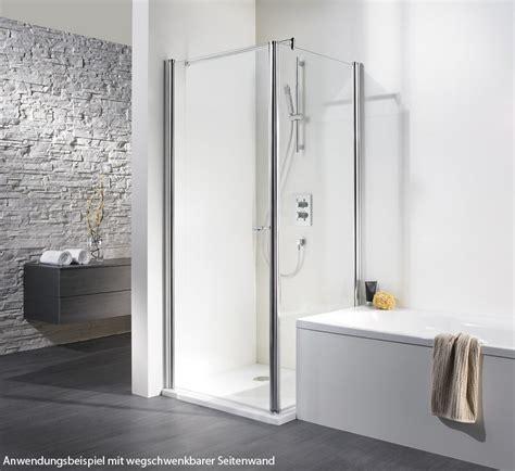 duschkabinen auf badewanne hsk exklusiv dreht 252 r f 252 r wegschwenkbare seitenwand 80 x