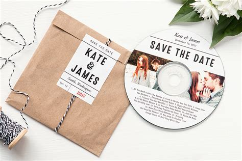 Save the Date CD   Easy DIY alternative to a card