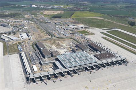 berlin airport aerial view of berlin brandenburg airport
