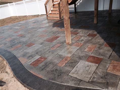 Concrete Patio Colors by Multi Color Sted Concrete Patio Blackwater Concrete