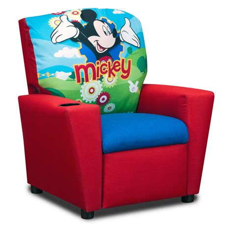 reclining chairs for kids disneys mickey mouse clubhouse recliner kids upholstered