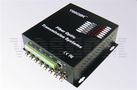 Fiber Optik Analog Cctv Media Converter 4 Channel cctv fiber optic transceiver vos 80101fdet r