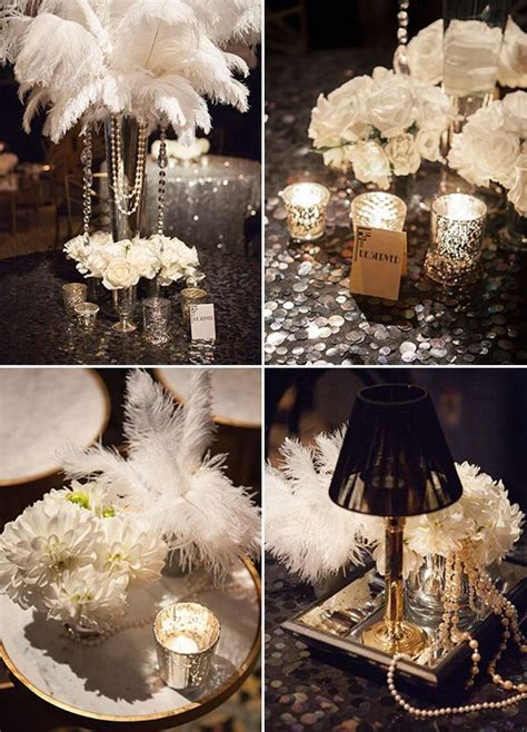 great gatsby themed ball great gatsby inspired celebration feather pearls and