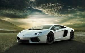 White Lamborghini Aventador Wallpaper White Lamborghini Aventador In Desert Desktop Wallpaper