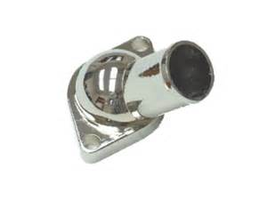 early water neck chrome steel thermostat housing water
