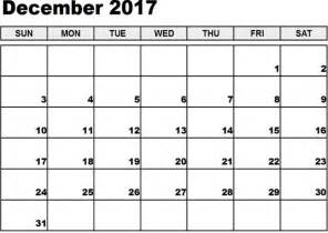 December 2017 Calendar Fillable   Calendar Template Letter
