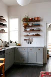 kitchen with cabinets natural wood floating shelves kitchen ideas trends4us com