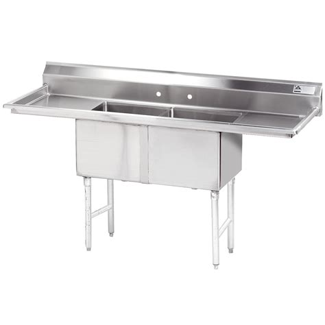 Stainless Steel Sinks Commercial by Advance Tabco Fc 2 1818 18rl Two Compartment Stainless