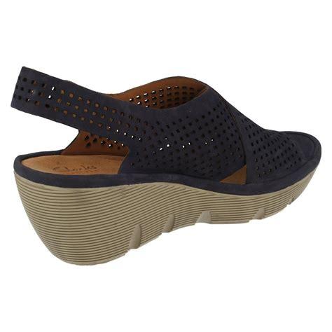 clarks casual wedge sandals clarene award ebay